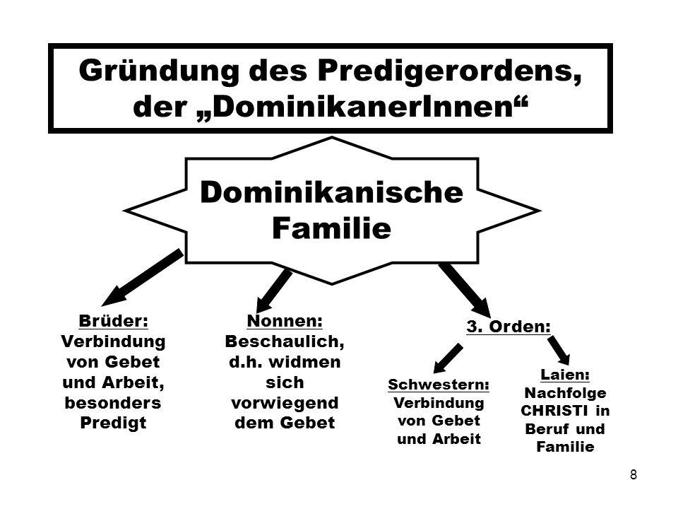"""Gründung des Predigerordens, der """"DominikanerInnen"""