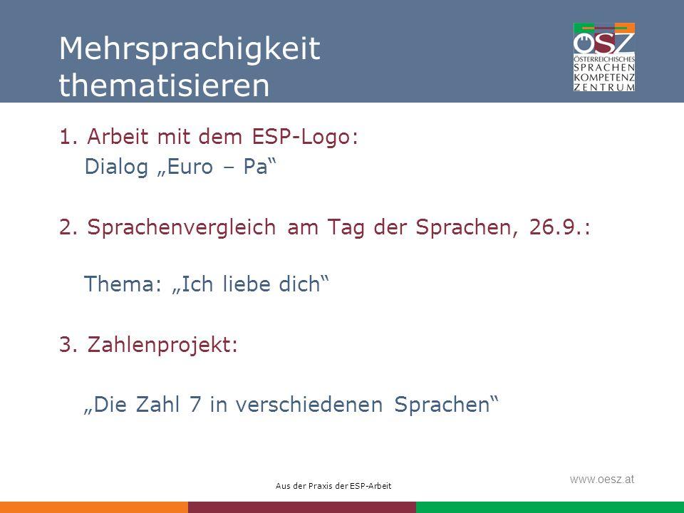 Mehrsprachigkeit thematisieren