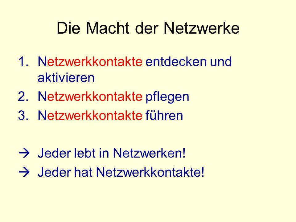 Die Macht der Netzwerke