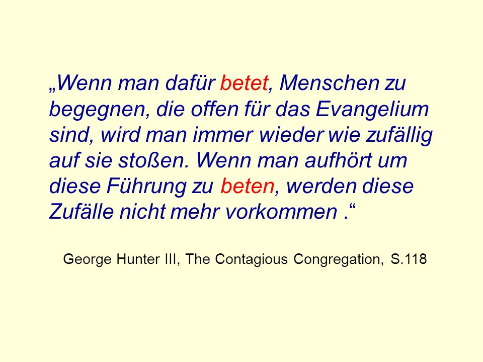 George Hunter III, The Contagious Congregation, S.118