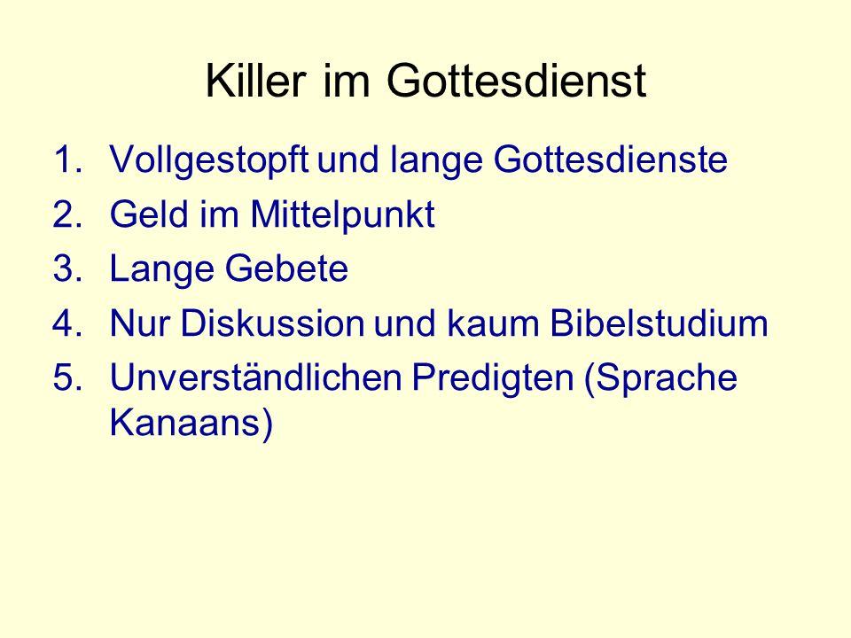 Killer im Gottesdienst