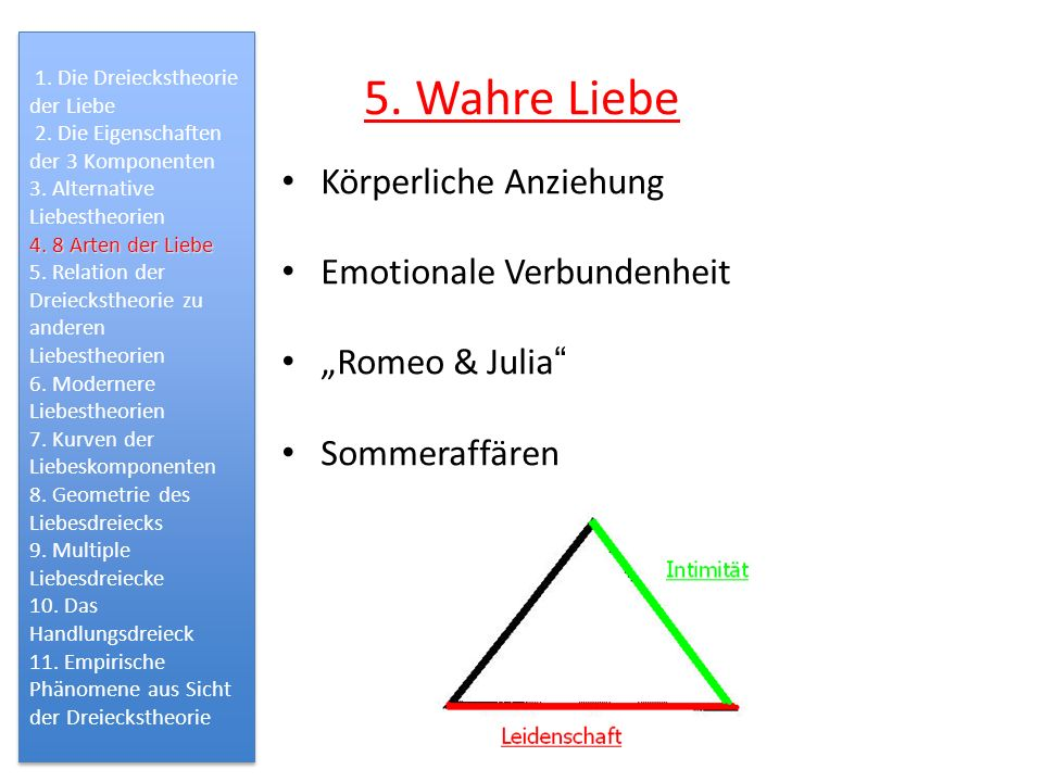 5. Wahre Liebe Körperliche Anziehung Emotionale Verbundenheit