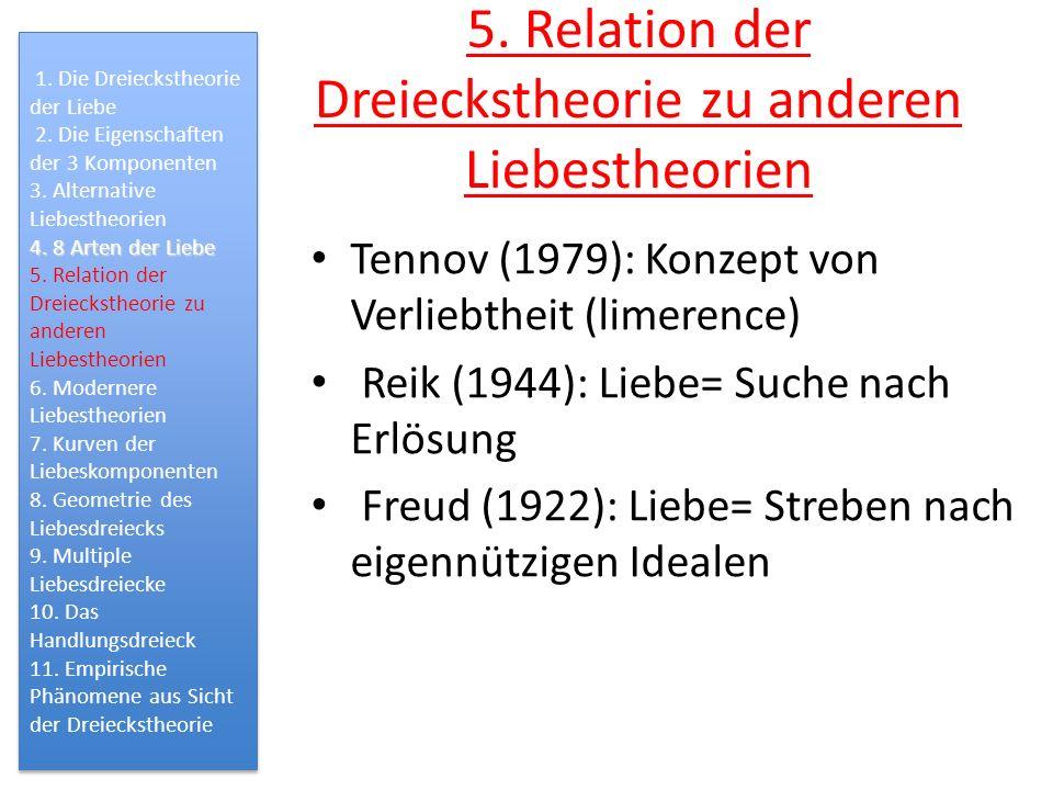 5. Relation der Dreieckstheorie zu anderen Liebestheorien