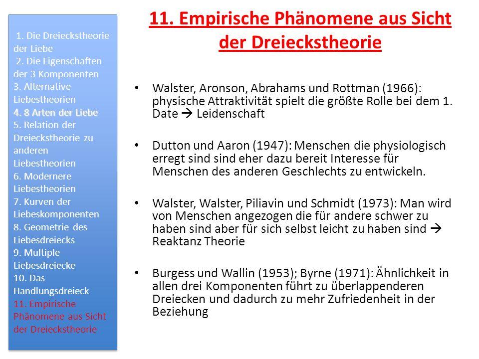 11. Empirische Phänomene aus Sicht der Dreieckstheorie