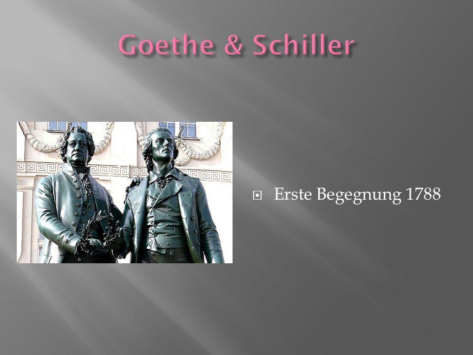 Goethe & Schiller Erste Begegnung 1788