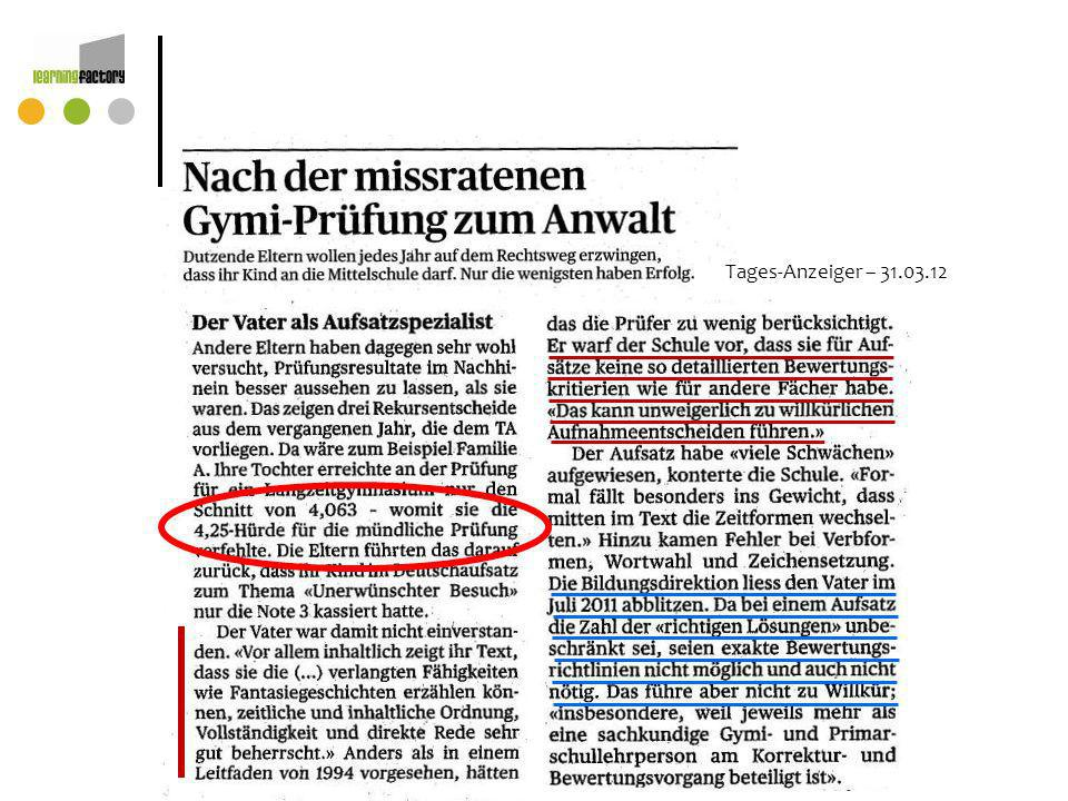 Tages-Anzeiger – 31.03.12