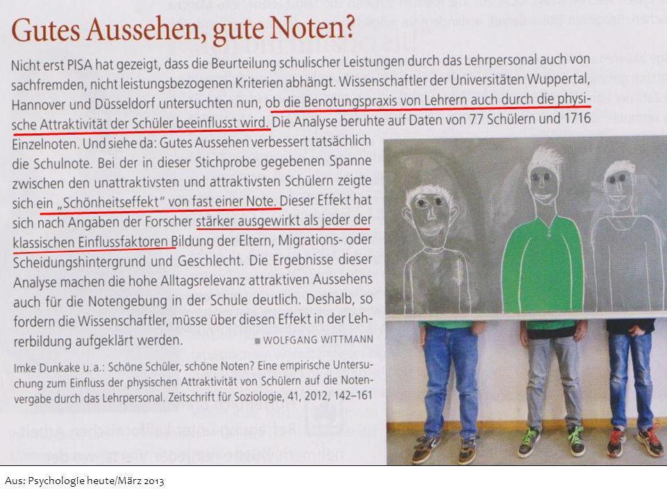 Aus: Psychologie heute/März 2013