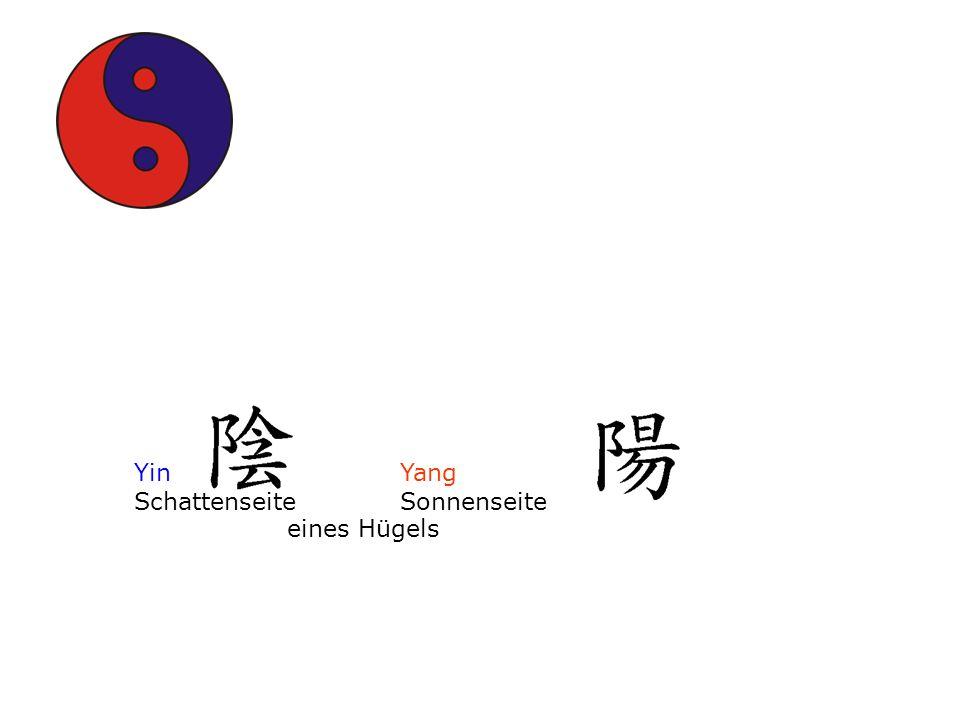 Yin Yang. Schattenseite Sonnenseite.