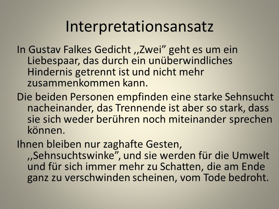 Interpretationsansatz