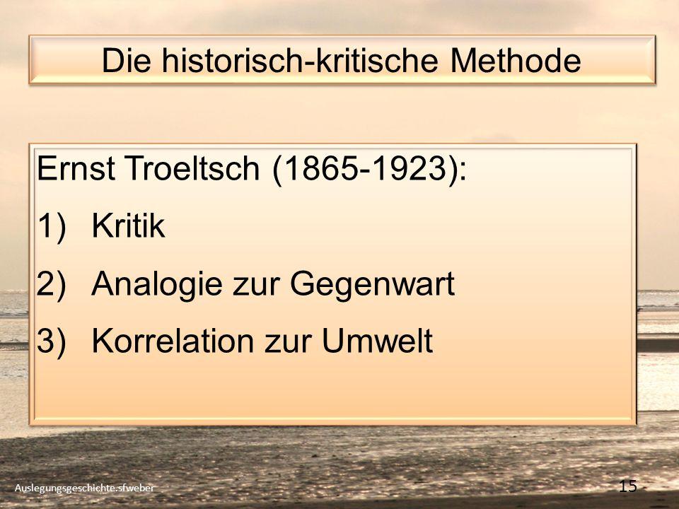 Die historisch-kritische Methode
