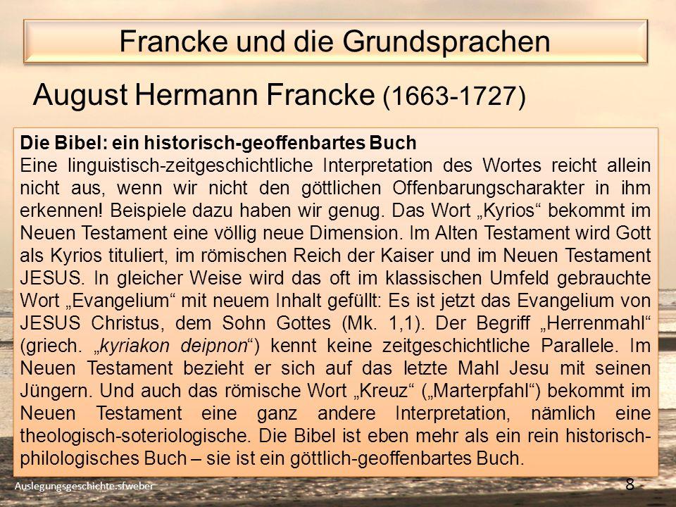 Francke und die Grundsprachen