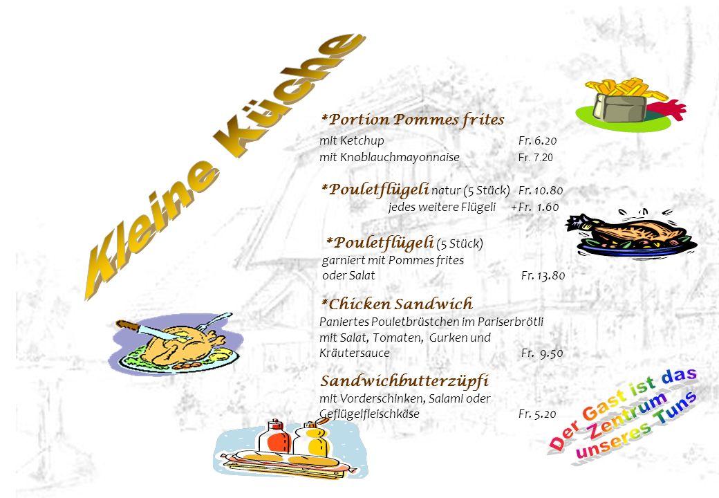 Kleine Küche Der Gast ist das Zentrum unseres Tuns