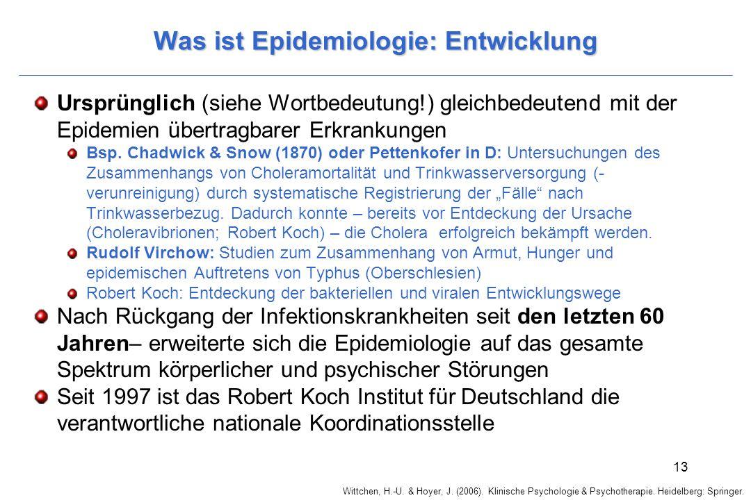 Was ist Epidemiologie: Entwicklung