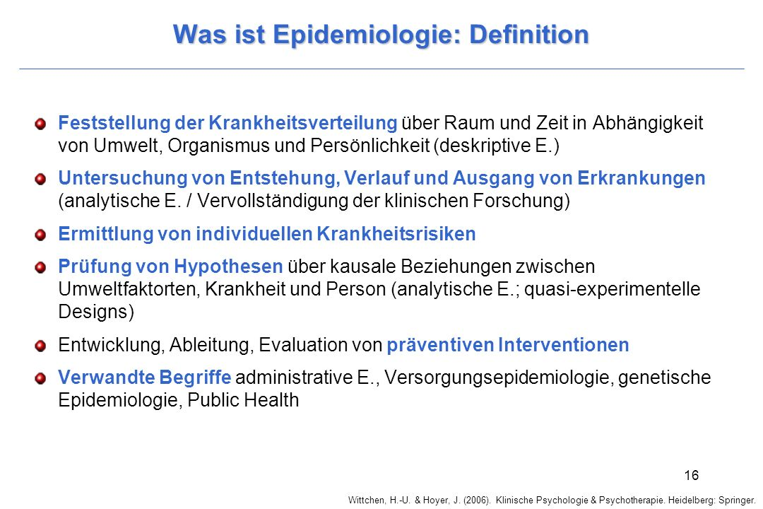 Was ist Epidemiologie: Definition