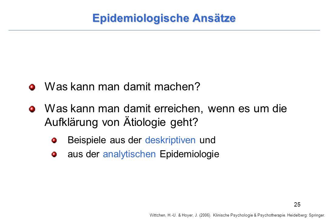 Epidemiologische Ansätze