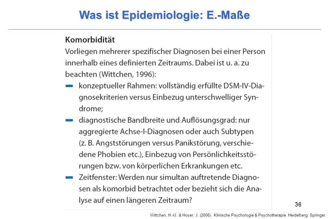 Was ist Epidemiologie: E.-Maße