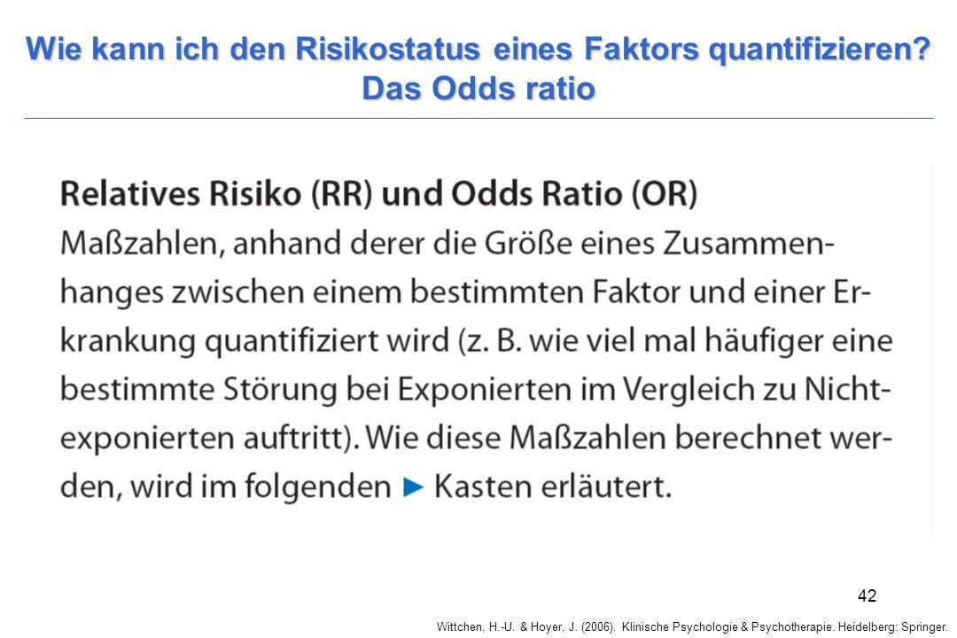Wie kann ich den Risikostatus eines Faktors quantifizieren