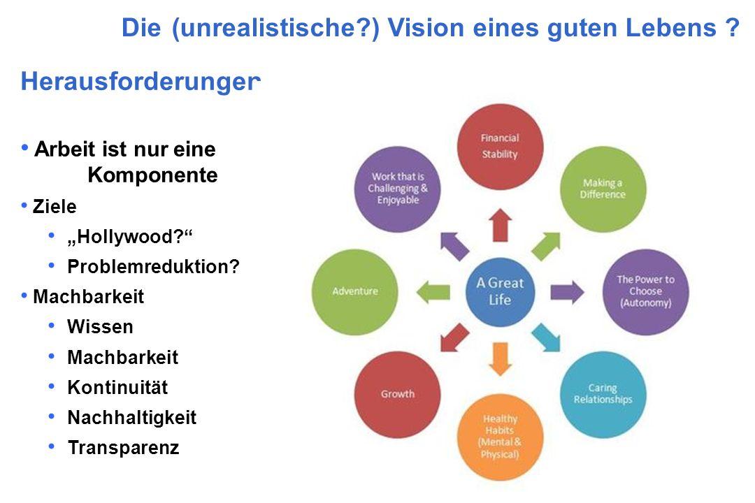 Die (unrealistische ) Vision eines guten Lebens