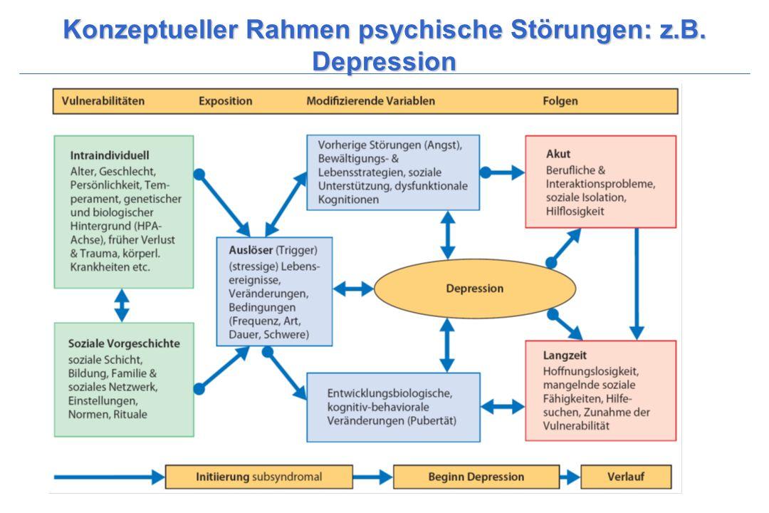 Konzeptueller Rahmen psychische Störungen: z.B. Depression