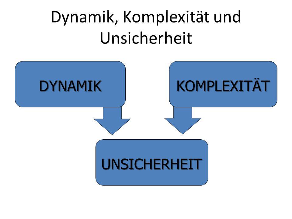Dynamik, Komplexität und Unsicherheit