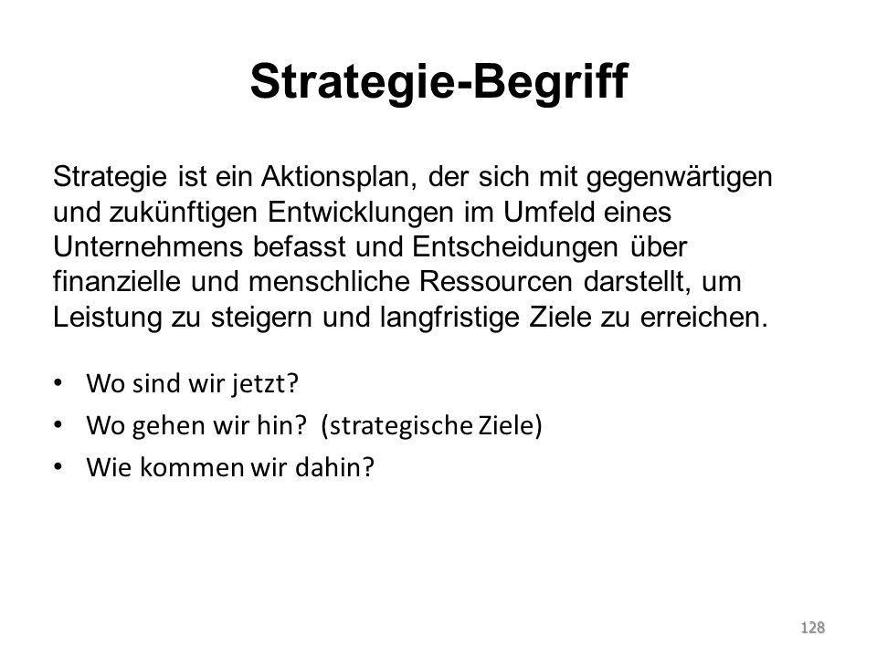 Strategie-Begriff