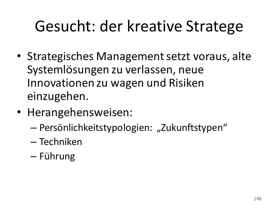 Gesucht: der kreative Stratege