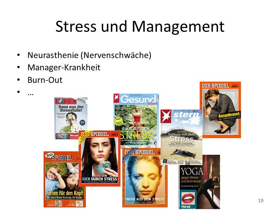 Stress und Management Neurasthenie (Nervenschwäche) Manager-Krankheit
