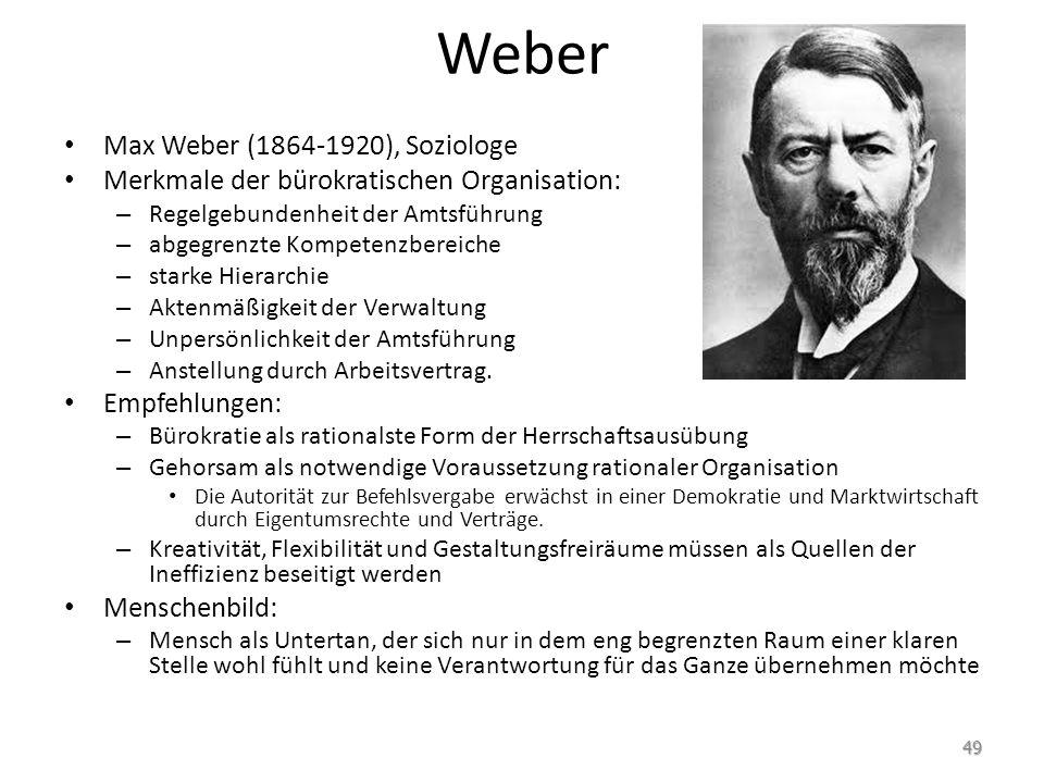 Weber Max Weber (1864-1920), Soziologe