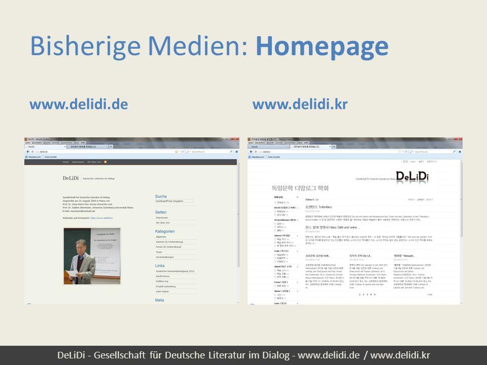 Bisherige Medien: Homepage