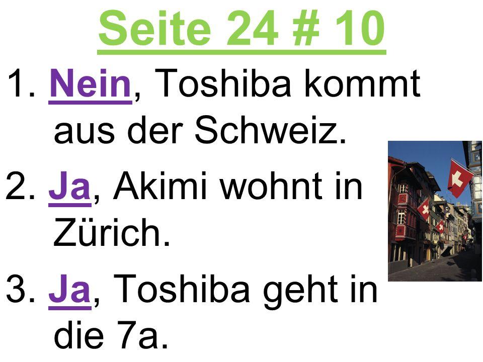 Seite 24 # 10 Nein, Toshiba kommt aus der Schweiz.