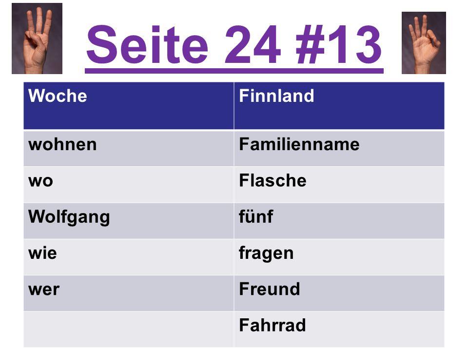 Seite 24 #13 Woche Finnland wohnen Familienname wo Flasche Wolfgang