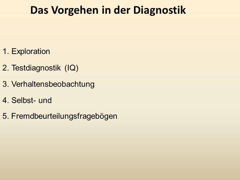 Das Vorgehen in der Diagnostik
