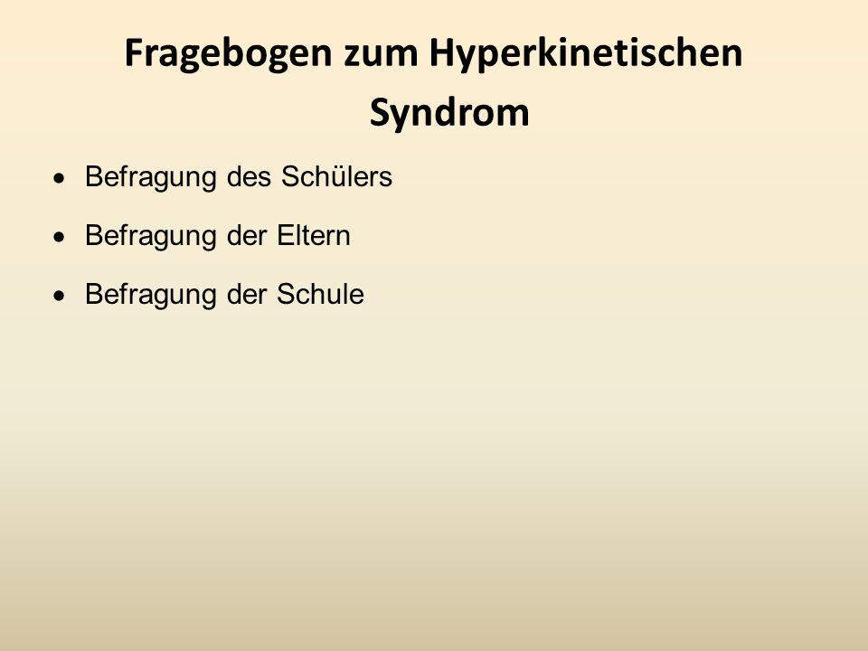 Fragebogen zum Hyperkinetischen Syndrom