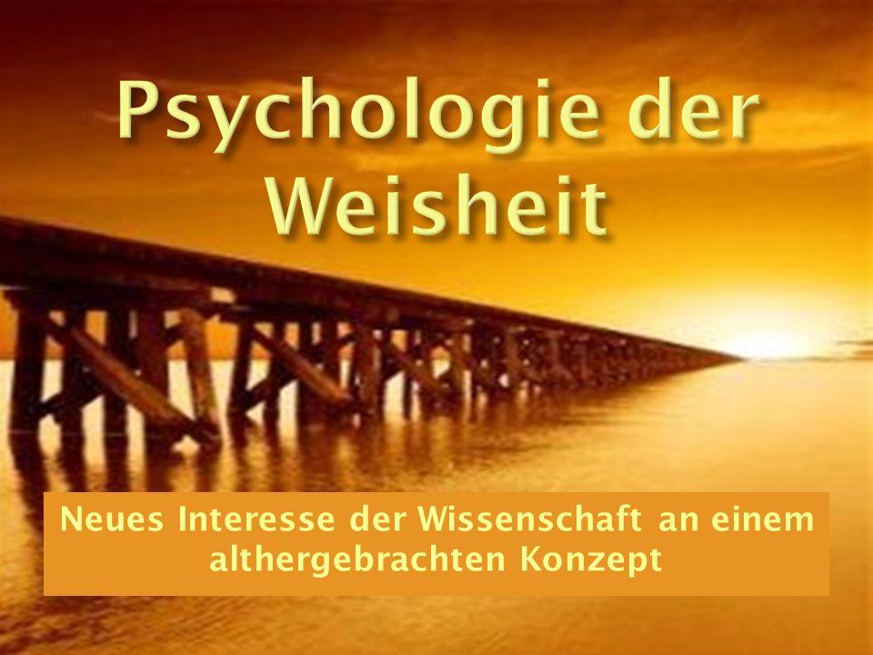 Psychologie der Weisheit
