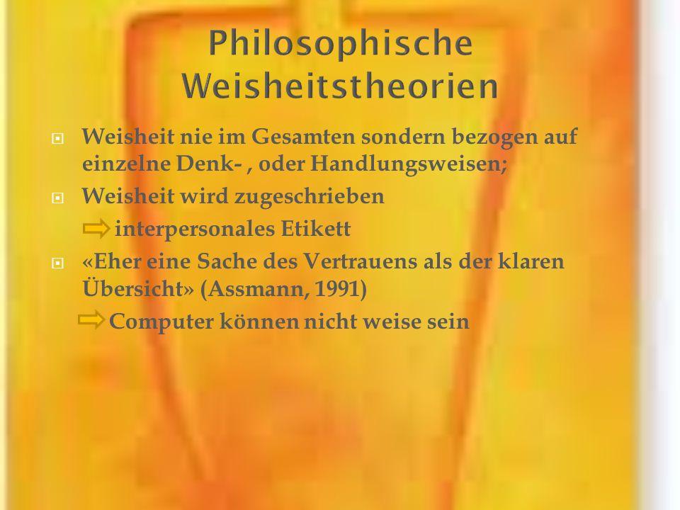 Philosophische Weisheitstheorien