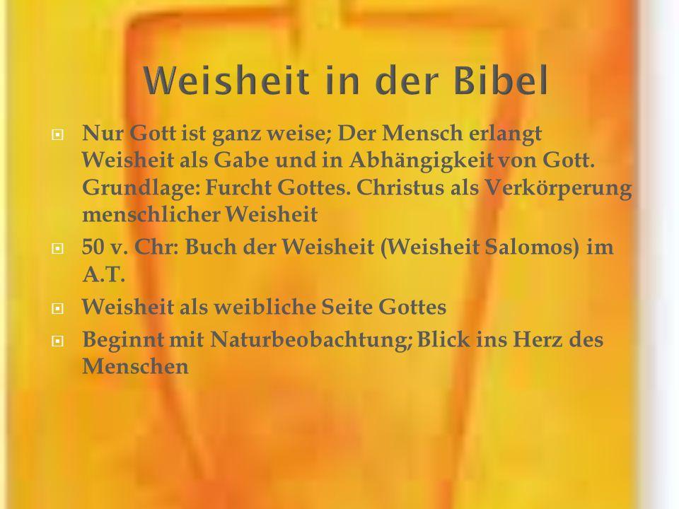 Weisheit in der Bibel