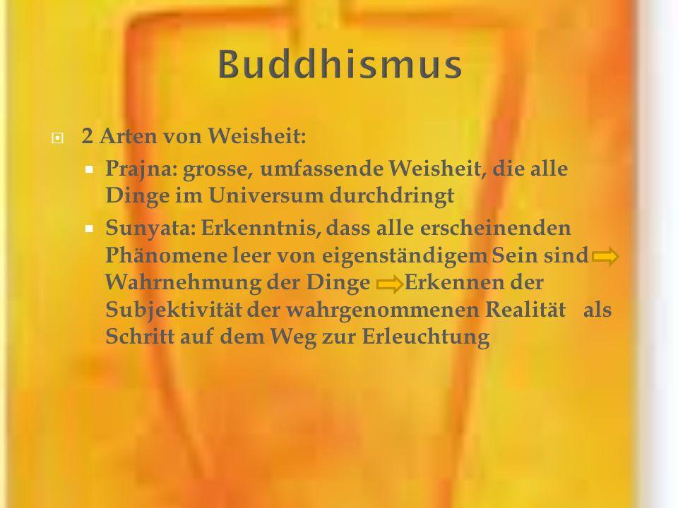 Buddhismus 2 Arten von Weisheit: