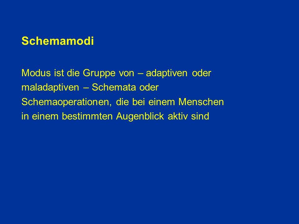 Schemamodi Modus ist die Gruppe von – adaptiven oder