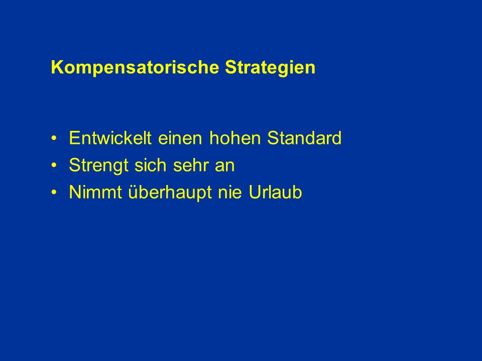 Kompensatorische Strategien