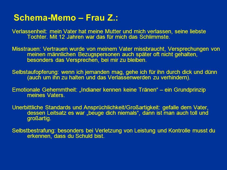 Schema-Memo – Frau Z.: