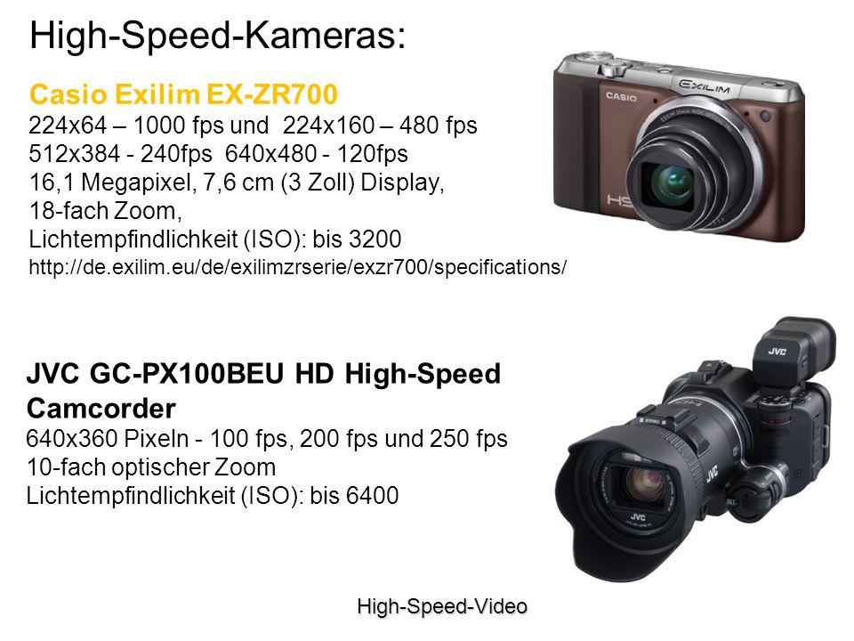 High-Speed-Kameras: Casio Exilim EX-ZR700