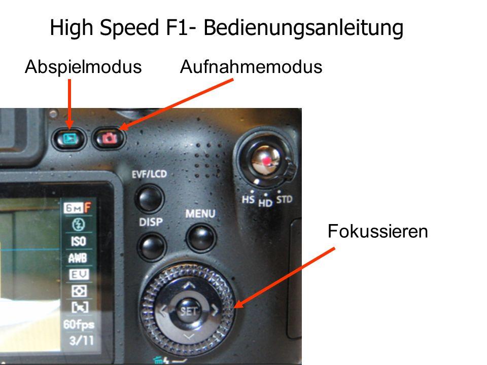 High Speed F1- Bedienungsanleitung