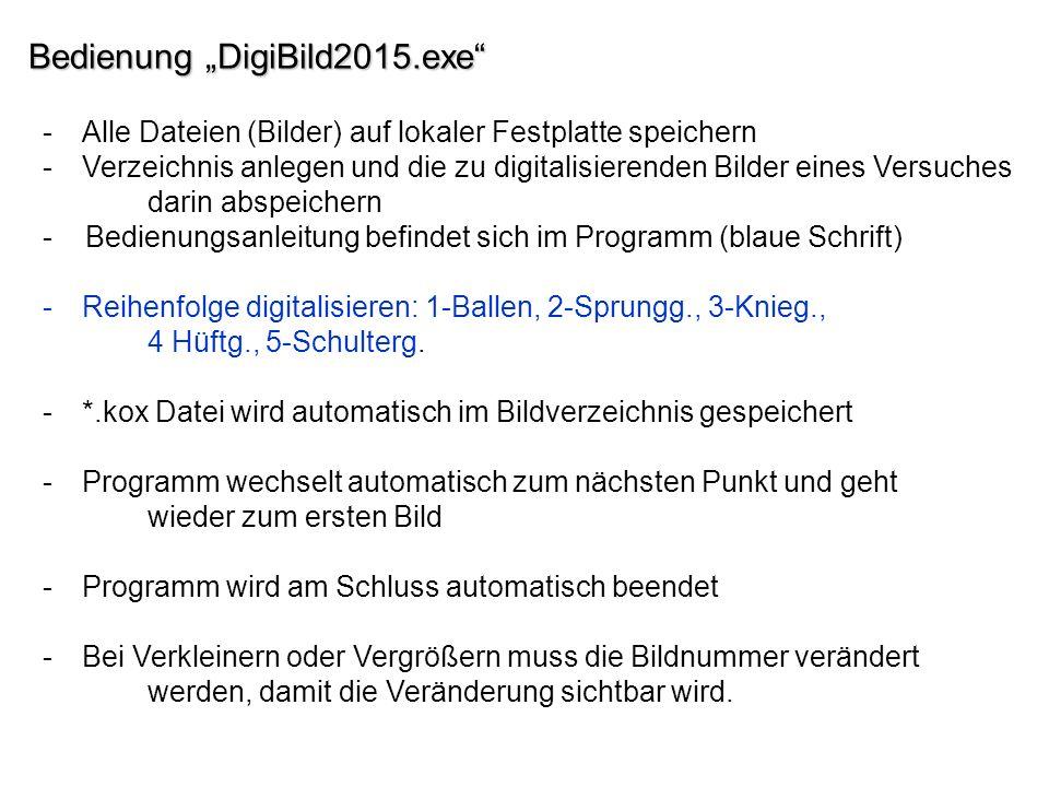 "Bedienung ""DigiBild2015.exe"