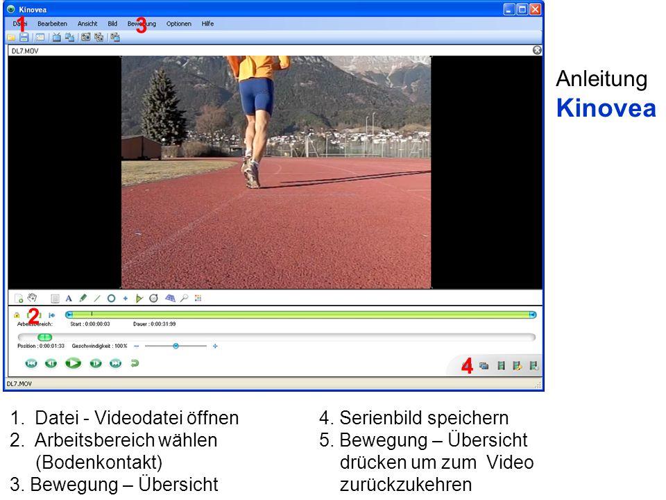 Kinovea 1 3 Anleitung 2 4 Datei - Videodatei öffnen