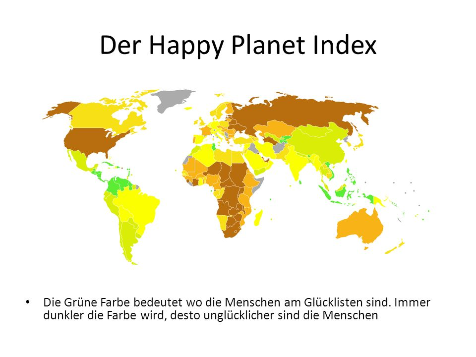Der Happy Planet Index