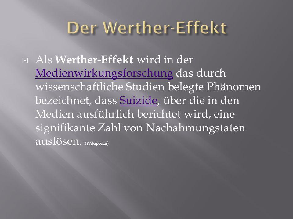 Der Werther-Effekt