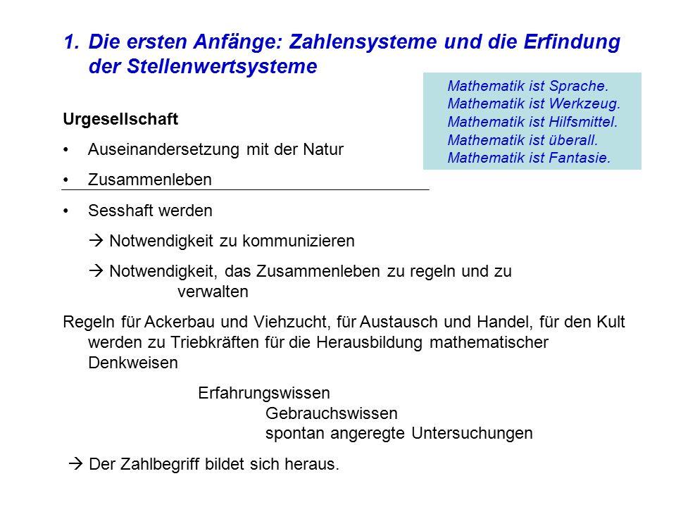 Die ersten Anfänge: Zahlensysteme und die Erfindung der Stellenwertsysteme