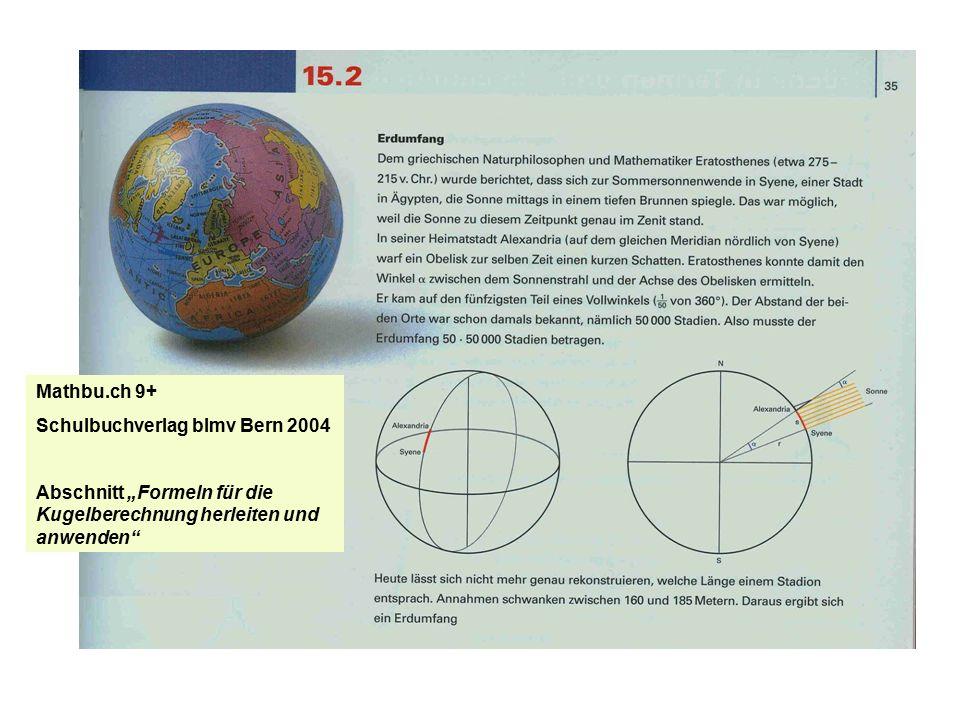 Mathbu.ch 9+ Schulbuchverlag blmv Bern 2004.