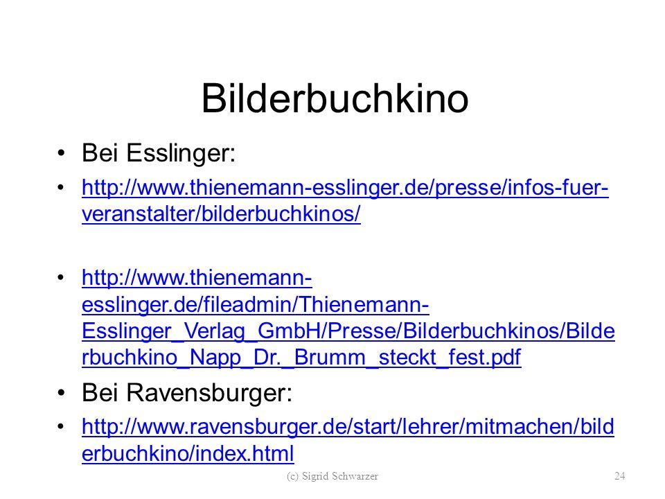 Bilderbuchkino Bei Esslinger: Bei Ravensburger: