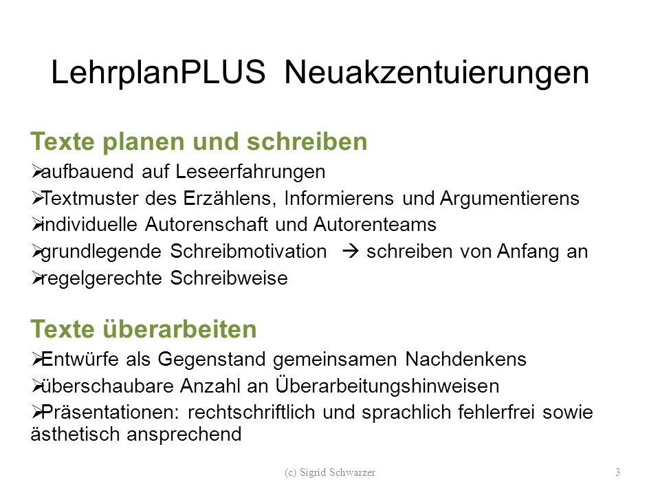 LehrplanPLUS Neuakzentuierungen